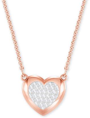 Swarovski Pave Heart Pendant Necklace