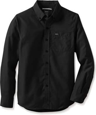 RVCA Big Boys' Thatll DO Oxford Long Sleeve Woven Shirt