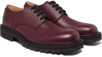 Dries Van Noten Pebble-Grain Leather Derby Shoes
