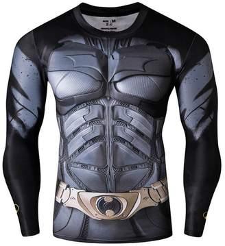 Hero's Heroine BFJ Mycos Men's Super Heros Batman Tights Tee shirt 3D Long Sleeve T-shirts