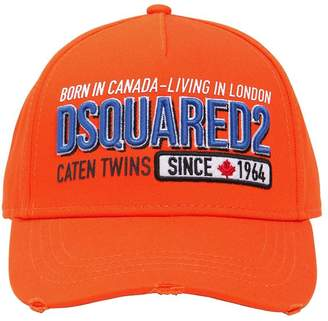 DSQUARED2 Embroidered & Printed Cotton Canvas Hat