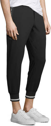 Karl Lagerfeld Paris Ribbed-Cuff Woven Jogger Pants