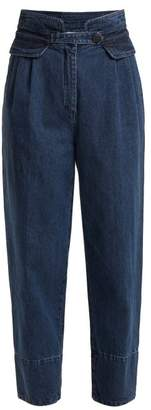 Sea - High Rise Straight Leg Cropped Jeans - Womens - Indigo