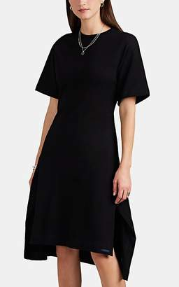 Yohji Yamamoto Regulation Women's Lace-Up Cotton Terry Midi-Dress - Black