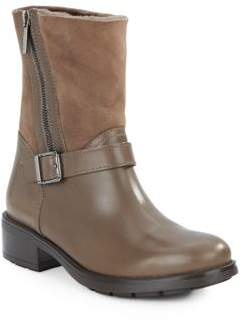 Shearling-Trim Ankle Boots $595 thestylecure.com