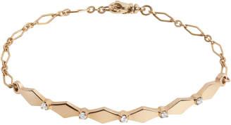 Gillian Steinhardt 14k Gold & Diamond Harlequin ID Bracelet