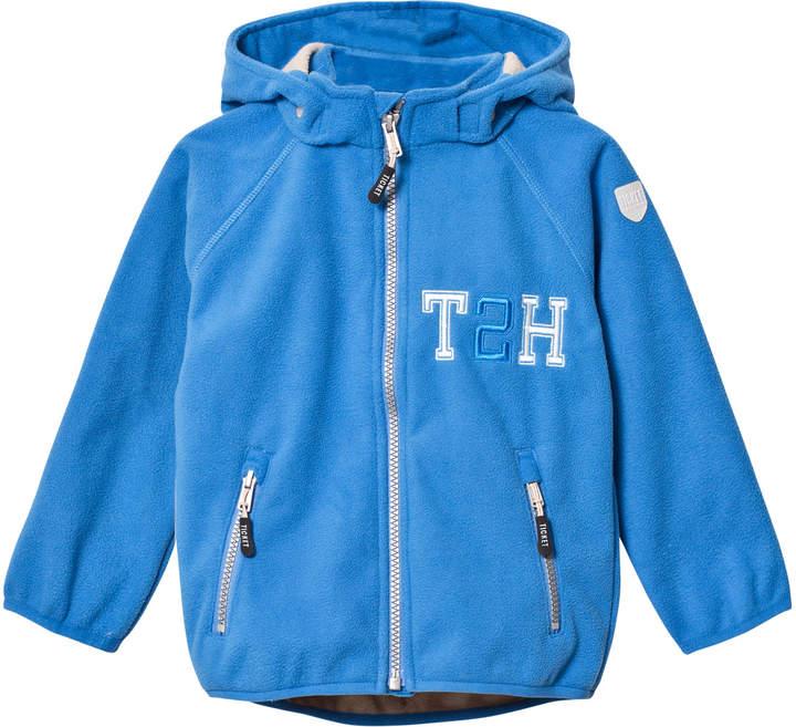 French Blue Kristar Fleece Jacket With Detachable Hood