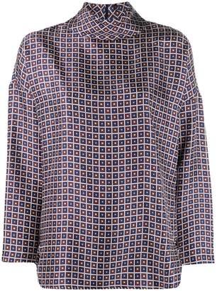 Alberto Biani geometric print blouse