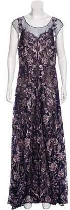 Marchesa Embroidered Maxi Dress