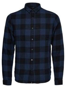 ONLY & SONS Checkered Cotton Casual Button-Down Shirt