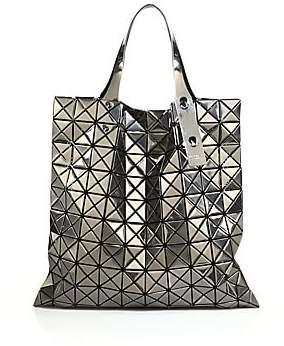 Bao Bao Issey Miyake Women's Platinum Faux Patent Leather Tote