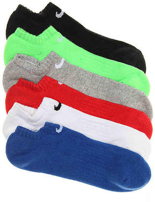 Nike Performance Cushioned Youth Ankle Socks - 6 Pack - Boy's