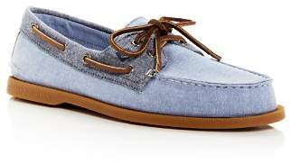 Sperry Men's Authentic Original Two Eye Chambray Boat Shoes