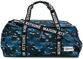 MAISON KITSUNÉ x Eastpak camouflage print duffle bag