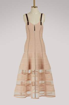 Alexander McQueen Bustier dress