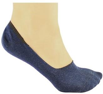 DL furniture 6 Pack Dark blue Thin Casual No Show Socks Non Slip Flat Boat Line