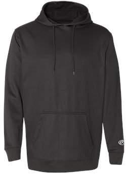 Rawlings Sports Accessories 9709 Mesh Fleece Hooded Sweatshirt L