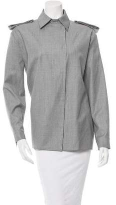 Thierry Mugler Wool Button-Up Top w/ Tags