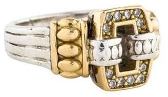 Lagos Diamond Circle Game Cushion Ring