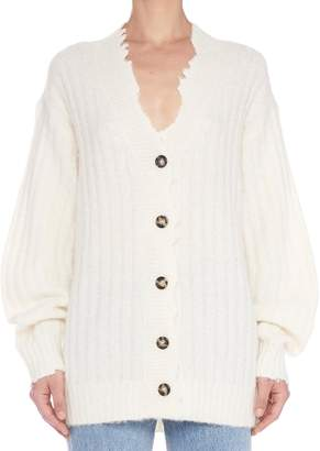 Helmut Lang 'brushed Wool' Cardigan