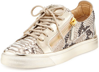 Giuseppe Zanotti Embossed Snake-Print Sneakers, Scarpa Ber $479 thestylecure.com