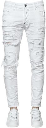16cm Skater Destroyed Cotton Denim Jeans $685 thestylecure.com