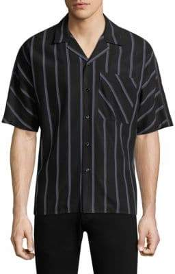 Solid Homme Striped Button-Down Shirt