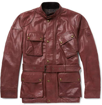 Belstaff Panther Slim-Fit Belted Leather Jacket