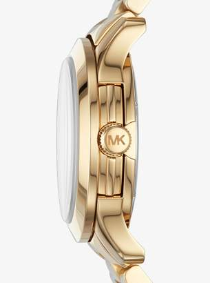 Michael Kors Runway Baguette Gold-Tone Watch