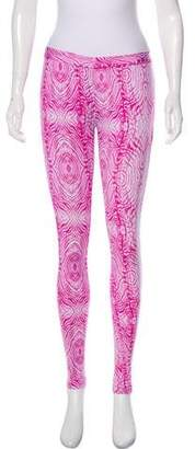 Thomas Wylde Mixed Pattern Leggings
