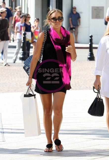 Sunshine and Shadow Burgundy/Pink Silk Scarf as seen on Lauren Conrad and Rihanna
