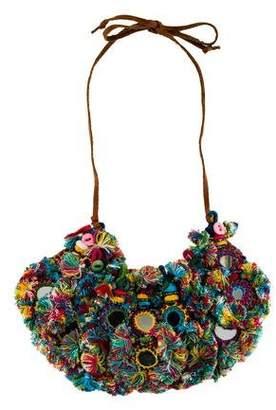 Tory Burch Multicolored Bib Necklace