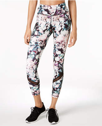 Ideology Printed Mesh-Trimmed Ankle Leggings, Created for Macy's