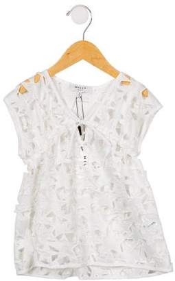 Milly Minis Girls' Star-Patterned Lace Cover-Up w/ Tags