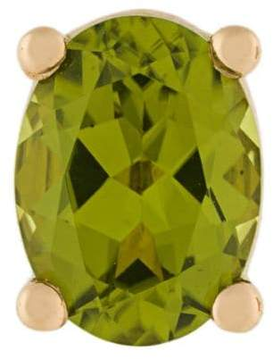 Delfina Delettrez 18kt gold Dots Solitaire peridot earring