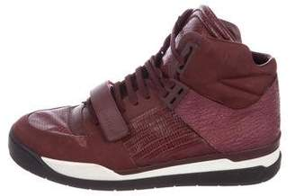 Louis Vuitton Leather High-Top Sneakers