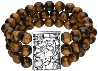 Elyse Ryan Sterling Tiger's-Eye Bead Bracelet