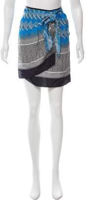 Derek Lam Silk Printed Mini Skirt