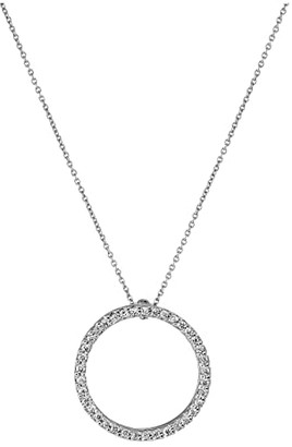Roberto Coin Tiny Treasures Small Diamond Circle of Life Necklace
