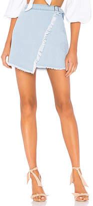 by the way. Kensington Denim Wrap Skirt.