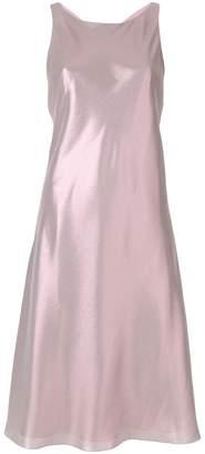 Alberta Ferretti shimmery racerback dress