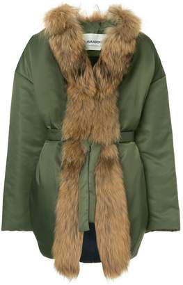 Ava Adore faux fur trim coat