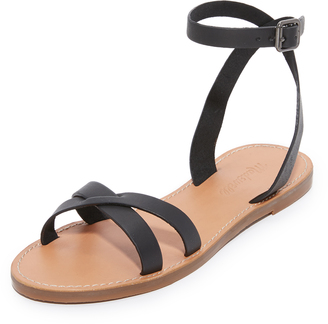 Madewell Boardwalk Ankle Wrap Sandals $69.50 thestylecure.com