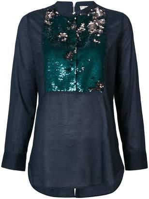 Figue Manuela sequined-bib shirt