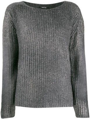 Avant Toi ribbed stitch sweater