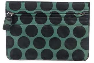 Marc Jacobs Polka Dot Leather Zip Clutch