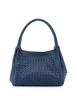 Bottega Veneta Parachute Small Intrecciato Tote Bag, Cobalt Blue $2,400 thestylecure.com