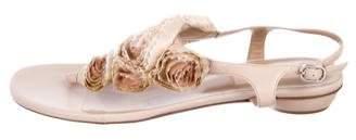 Valentino Flower Thong Sandals