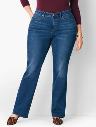 6bac8baf31b Talbots Plus Size High-Waist Barely Boot Jeans - Nestor Wash Curvy Fit