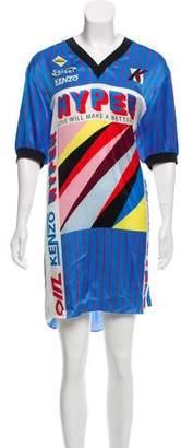Kenzo Silk Printed Dress w/ Tags